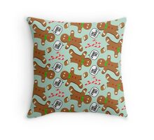 Oh, Snap Gingerbread Pattern Throw Pillow