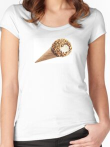 Ice Cream cone chocolate and nuts Women's Fitted Scoop T-Shirt