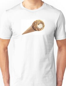 Ice Cream cone chocolate and nuts Unisex T-Shirt