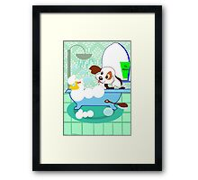 Rub-A-Dub Who is in the Bath tub (2969  Views) Framed Print