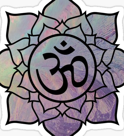 Om Lotus Sticker