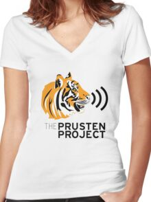 Tiger Conservation - The Prusten Project Women's Fitted V-Neck T-Shirt