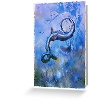 The Blue One. Greeting Card