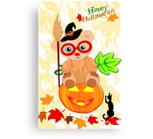 Halloween Teddy with glasses (4922 Views ) Canvas Print