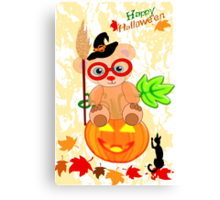 Halloween Teddy with glasses (4060 Views ) Canvas Print