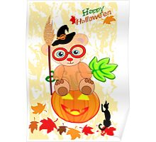 Halloween Teddy with glasses (4060 Views ) Poster