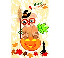 Halloween Teddy with glasses (4922 Views ) Photographic Print