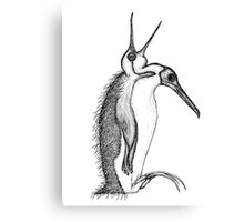 Scary Penguin Canvas Print