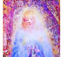water color,hand painted,angel,beautiful,multi colors,modern,elegant,spiritual art,faith, Photographic Print