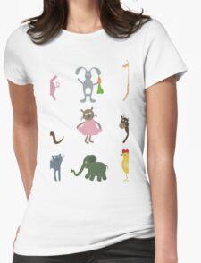 Cartoon film an animal Womens Fitted T-Shirt