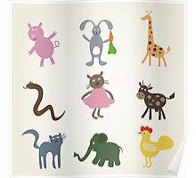 Cartoon film an animal Poster