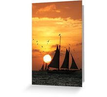 Sunset Sail in Key West II Greeting Card
