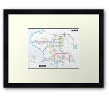 Middle Earth Transit Map Framed Print