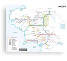 Middle Earth Transit Map Metal Print