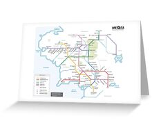 Middle Earth Transit Map Greeting Card