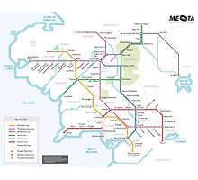 Middle Earth Transit Map Photographic Print