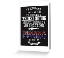 Indiana Patriot Greeting Card