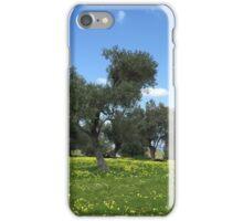Olive orchard summer invasion iPhone Case/Skin