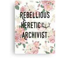 Rebellious Heretic Archivist Canvas Print