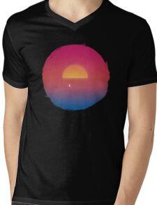 Sailboat in Sunset Mens V-Neck T-Shirt