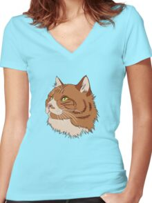 Diesel the Cat Women's Fitted V-Neck T-Shirt