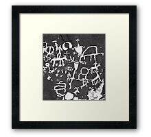 Newspaper Rock .2 Framed Print