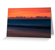 Red Sky Seascape - Emerald Isle, NC Greeting Card