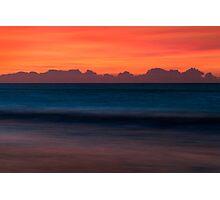 Red Sky Seascape - Emerald Isle, NC Photographic Print