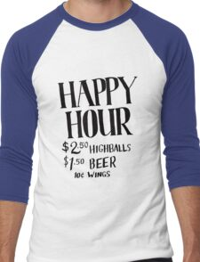 Happy Hour Drink Special Men's Baseball ¾ T-Shirt