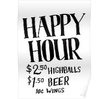 Happy Hour Drink Special Poster