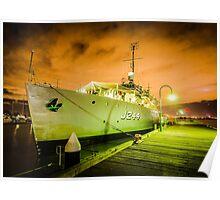 DRAMATIC NAVAL SHIP Poster
