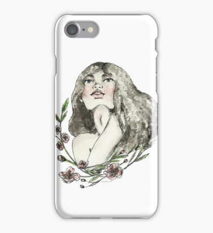 Floral Ink iPhone Case/Skin