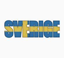 Sweden Sverige Flag  Kids Tee