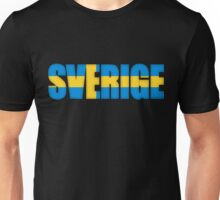 Sweden Sverige Flag  Unisex T-Shirt