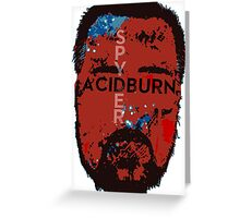 Spyder Acidburn Patriot Mask Greeting Card