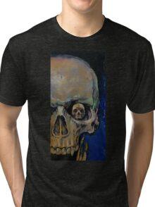 Vampire Skull Tri-blend T-Shirt