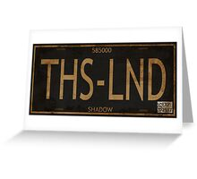 Serenity License Plate Greeting Card