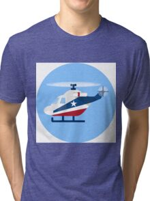 helicopter Tri-blend T-Shirt