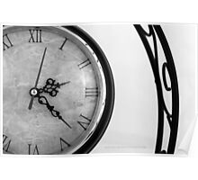 Vintage Wrought Iron Table Clock Detail Poster