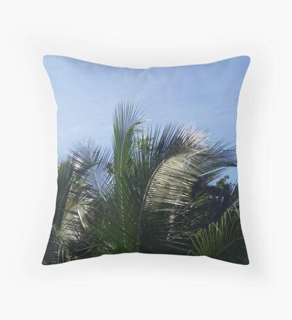 Coconut Trees of The Caribbean Throw Pillow