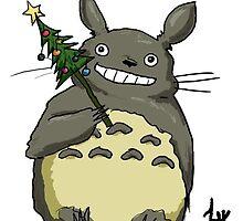 New Year Totoro by Lunnika-Horo