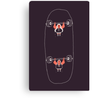 Heavyweight Skateboarding Canvas Print
