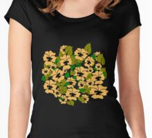 Peach Pansy Design by Kat Worth Women's Fitted Scoop T-Shirt