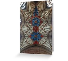 Abbey Ceiling Greeting Card