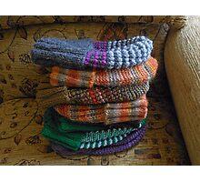 Warm Winter Hats Photographic Print