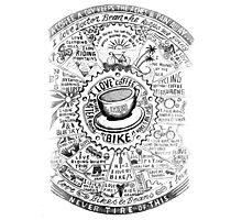 Bikes & Beans Photographic Print