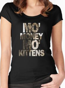 Mo' Money, Mo' Kittens 2 Women's Fitted Scoop T-Shirt