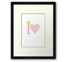I heart  Framed Print