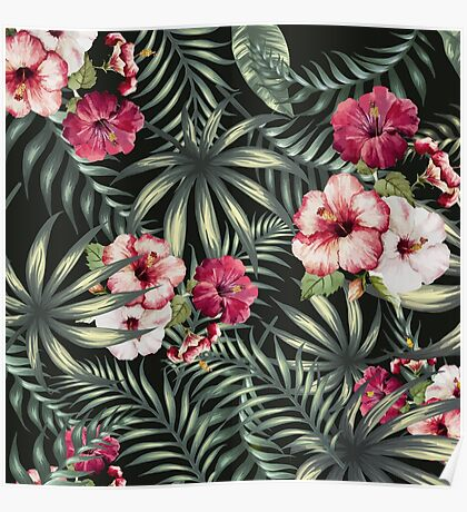 Tropical Leave pattern 5 Poster