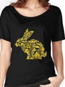 Rabbit Ornate Vintage Pattern Decoration Women's Relaxed Fit T-Shirt